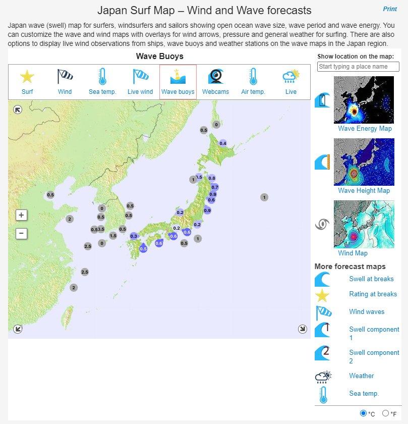 surf-forecast.comより引用